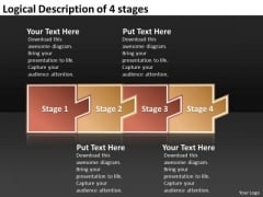 Logical Description Of 4 Stages Flow Chart In Business PowerPoint Slides