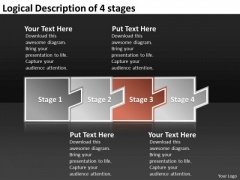 Logical Description Of 4 Stages Manufacturing Process Flow Chart PowerPoint Templates