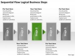 Logical World Business PowerPoint Templates Steps Plan Pdf