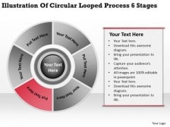 Looped Process 6 Stages Business Plans For Non Profit Organizations PowerPoint Slides
