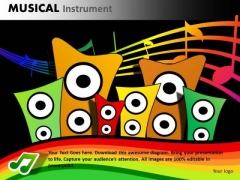 Loudspeakers PowerPoint Templates Music PowerPoint Ppt Slides