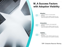 M A Success Factors With Adoption Visibility Ppt PowerPoint Presentation Outline Picture