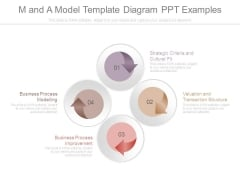 M And A Model Template Diagram Ppt Examples