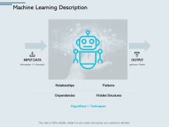 Machine Learning Description Patterns Ppt PowerPoint Presentation Pictures Templates