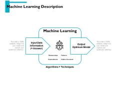 Machine Learning Description Ppt PowerPoint Presentation Portfolio File Formats