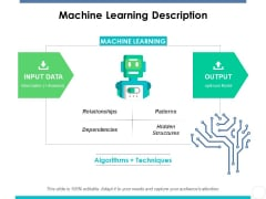 Machine Learning Description Ppt PowerPoint Presentation Show Background