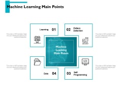 Machine Learning Main Points Ppt PowerPoint Presentation Show Portrait