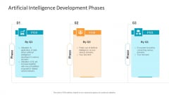 Machine Learning PPT Slides Artificial Intelligence Development Phases Structure PDF