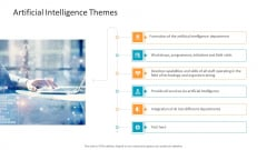 Machine Learning PPT Slides Artificial Intelligence Themes Summary PDF