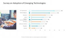Machine Learning PPT Slides Survey On Adoption Of Emerging Technologies Guidelines PDF