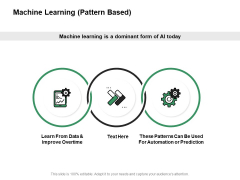 Machine Learning Pattern Based Ppt PowerPoint Presentation Portfolio Background Images