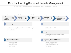 Machine Learning Platform Lifecycle Management Ppt PowerPoint Presentation Visual Aids Example File