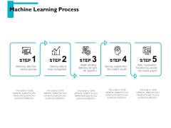 Machine Learning Process Ppt PowerPoint Presentation Inspiration Topics