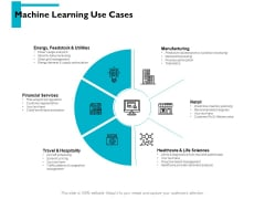 Machine Learning Use Cases Ppt PowerPoint Presentation Icon Deck