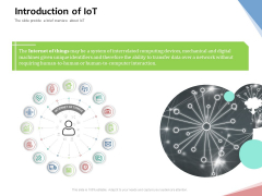 Machine To Machine Communication Outline Introduction Of Iot Ppt Layouts Layout Ideas PDF