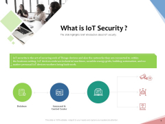 Machine To Machine Communication Outline What Is Iot Security Ppt PowerPoint Presentation Show PDF