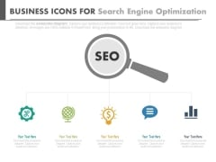 Magnifier For Search Engine Optimization Techniques Powerpoint Template