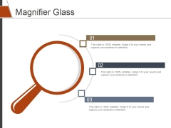 Magnifier Glass Ppt PowerPoint Presentation Icon Background