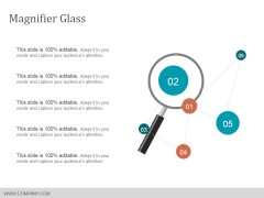 Magnifier Glass Ppt Powerpoint Presentation Infographics Aids
