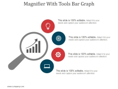 Magnifier With Tools Bar Graph Ppt PowerPoint Presentation Professional