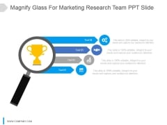Magnify Glass For Marketing Research Team Ppt Slide