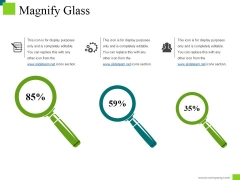 Magnify Glass Ppt PowerPoint Presentation File Summary