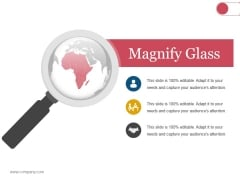 Magnify Glass Ppt PowerPoint Presentation Slides Gridlines
