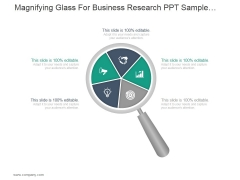 Magnifying Glass For Business Research Ppt PowerPoint Presentation Topics