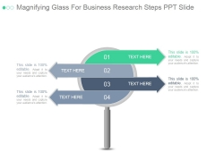 Magnifying Glass For Business Research Steps Ppt PowerPoint Presentation Designs Download