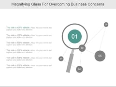 Magnifying Glass For Overcoming Business Concerns Ppt PowerPoint Presentation Ideas