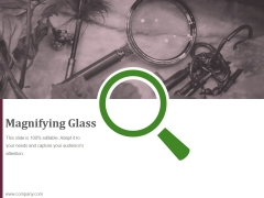 Magnifying Glass Ppt PowerPoint Presentation Guide