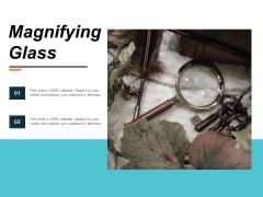 Magnifying Glass Technology Ppt Powerpoint Presentation Guide