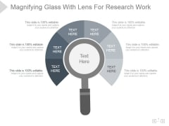 Magnifying Glass With Lens For Research Work Ppt PowerPoint Presentation Shapes