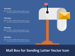 Mail Box For Sending Letter Vector Icon Ppt PowerPoint Presentation Outline Backgrounds PDF