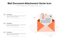 Mail Document Attachment Vector Icon Ppt PowerPoint Presentation Inspiration Introduction PDF