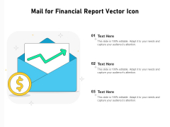 Mail For Financial Report Vector Icon Ppt PowerPoint Presentation Icon Gallery PDF