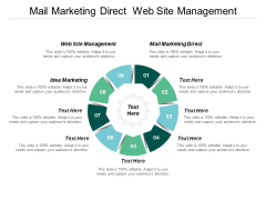 Mail Marketing Direct Web Site Management Idea Marketing Ppt PowerPoint Presentation Professional Clipart Images
