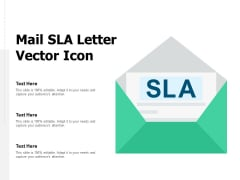 Mail SLA Letter Vector Icon Ppt PowerPoint Presentation Professional Template