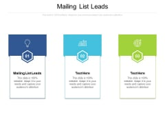 Mailing List Leads Ppt PowerPoint Presentation Ideas Professional Cpb