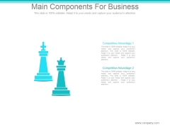 Main Components For Business Ppt PowerPoint Presentation Examples