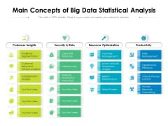 Main Concepts Of Big Data Statistical Analysis Ppt PowerPoint Presentation Pictures Introduction PDF