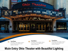 Main Entry Ohio Theater With Beautiful Lighting Ppt PowerPoint Presentation Infographics Icon PDF