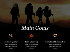 Main Goals Ppt PowerPoint Presentation Professional Example File