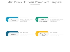Main Points Of Thesis Powerpoint Templates