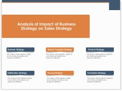 Main Revenues Progress Levers For Each Firm And Sector Analysis Of Impact Of Business Strategy On Sales Strategy  Graphics PDF