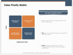 Main Revenues Progress Levers For Each Firm And Sector Sales Priority Matrix Ppt Layouts Diagrams PDF