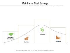 Mainframe Cost Savings Ppt PowerPoint Presentation Slides Portfolio Cpb Pdf