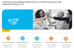 Maintain Good Relationships With Your Employees And Their Representatives Show Template PDF