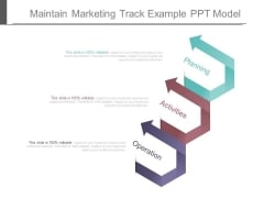 Maintain Marketing Track Example Ppt Model