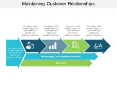 Maintaining Customer Relationships Ppt PowerPoint Presentation Slides Master Slide Cpb